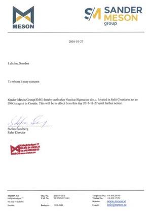 Letters Of Authorization  Nautica Sigmarine